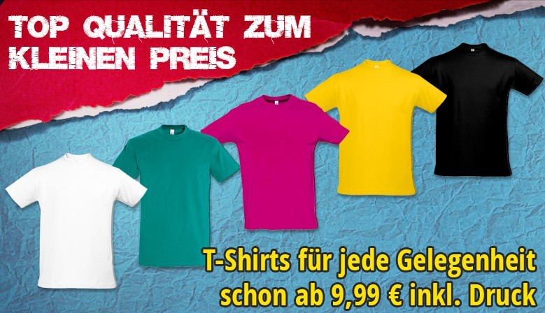 Fruit of the Loom Original T oder SOL's Imperial ab 9,99€
